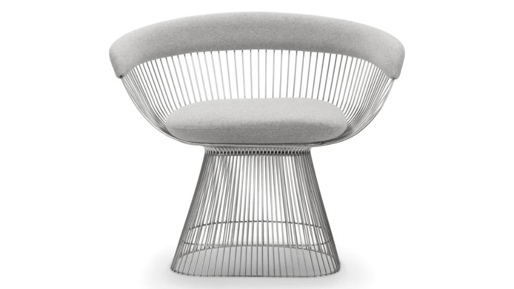 Platner Dining Warren Platner Arm Chair Light Gray In 2020