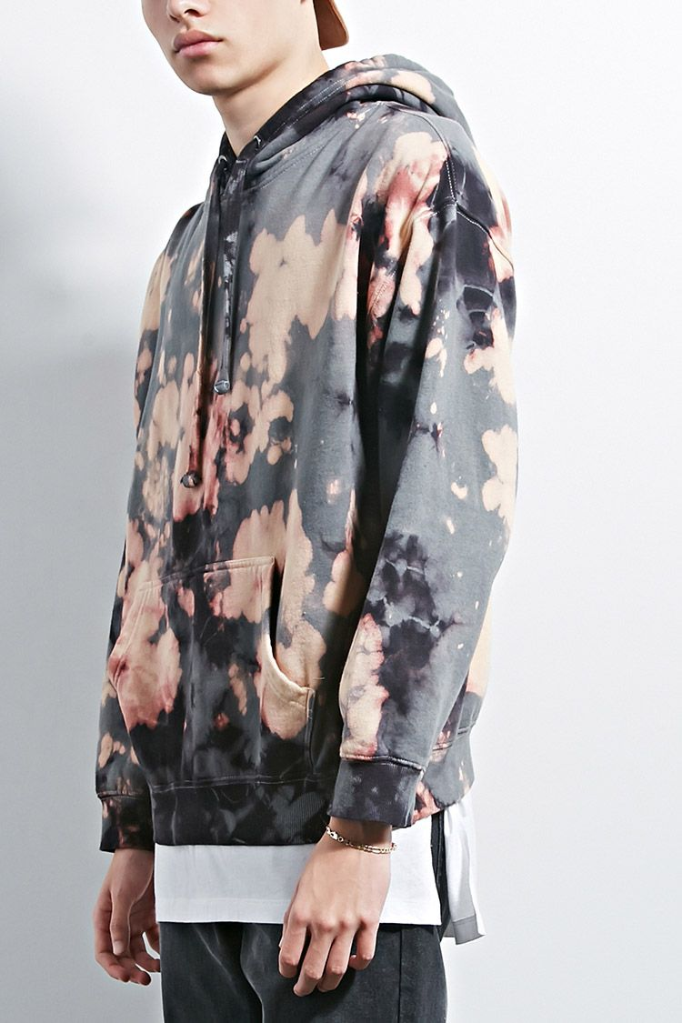 Eptm bleach dye hoodie tie dye fashion tie dye men
