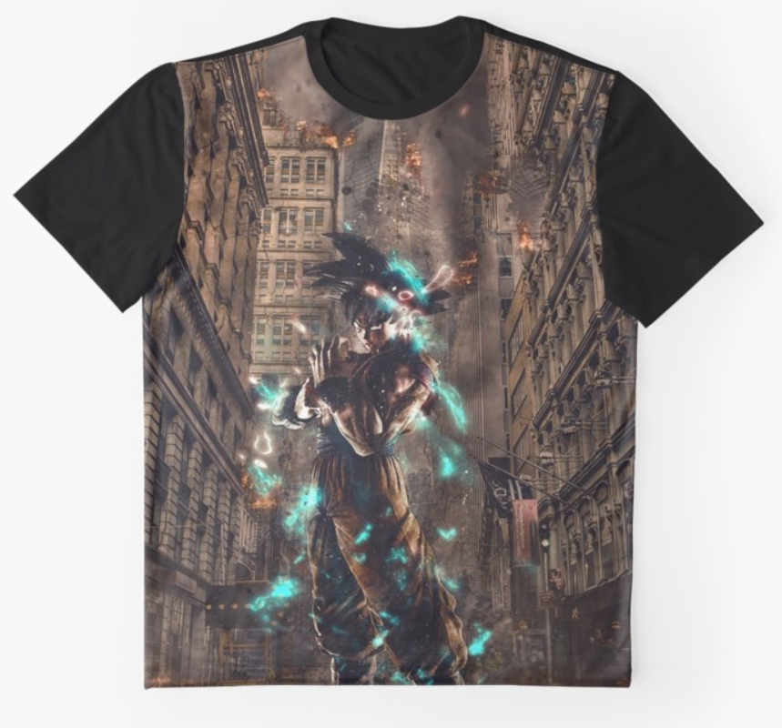 Graphic T-shirt: Power of Gods Blue | Displate thumbnail