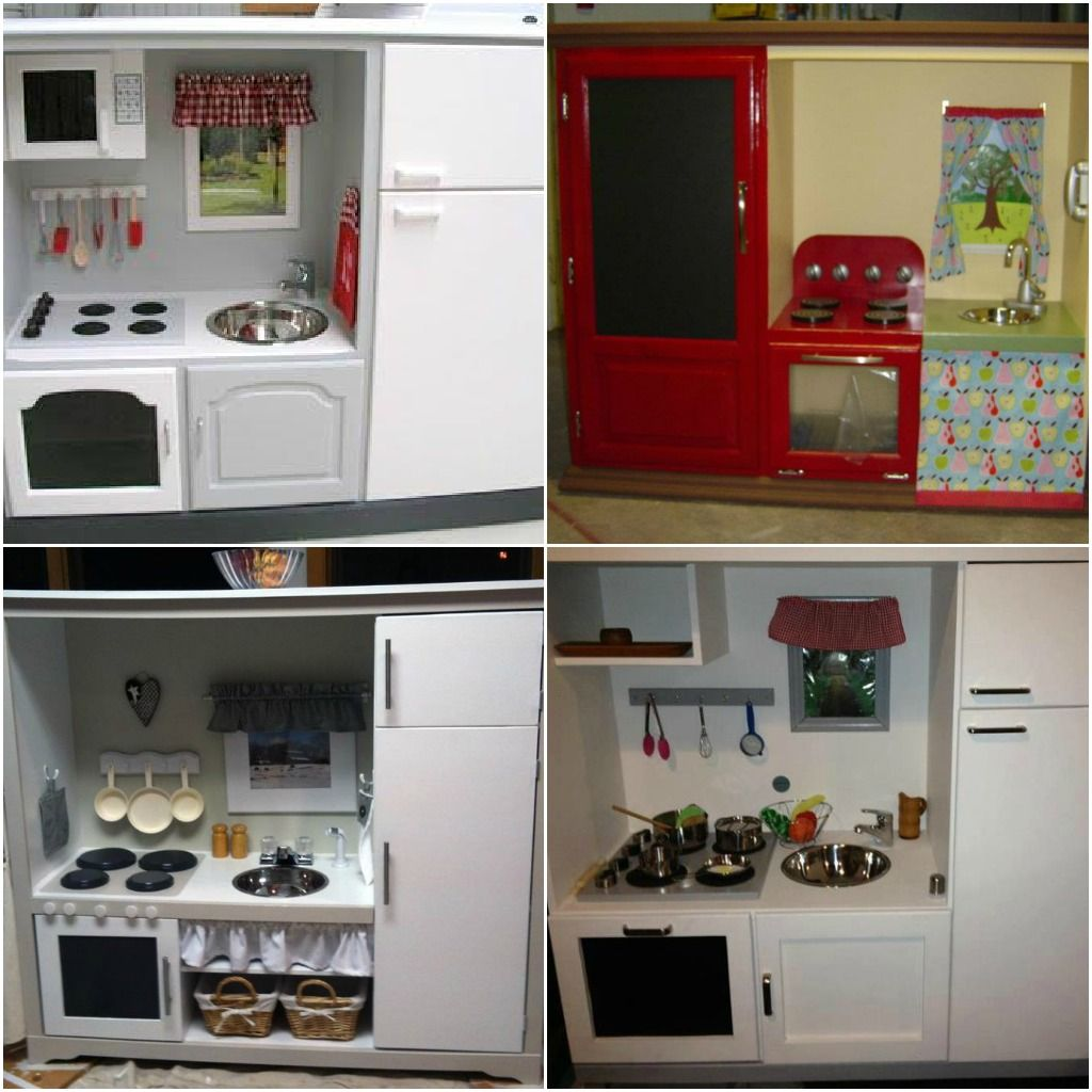 Entertainment Center Kitchen Set: Old Entertainment Center Turned Into A Play Kitchen...cute