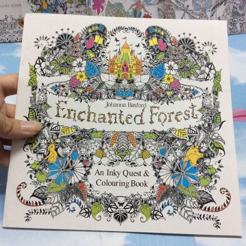 Enchanted Forest Secret Garden Series Antistress Adult Coloring Books 24 Pgs