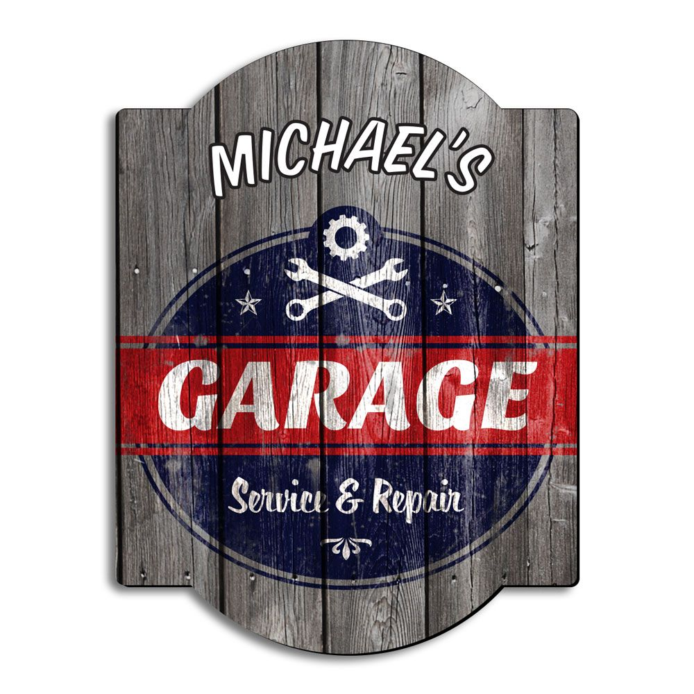 Vintage Garage Ideas: Vintage Personalized Garage Sign