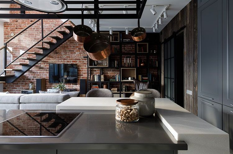 Two Level Loft For A Moscow Circus Director Loft Kvartira Dizajn