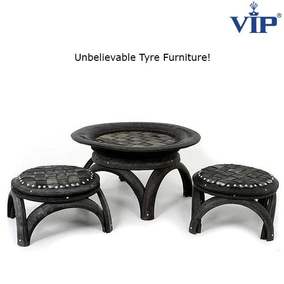 Recycling in style! If you look closely, you'll notice that it's actually made from cycle's rubber-tyre. #recycle