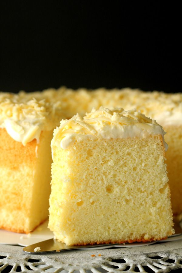 Parmesan Chiffon Cake Light And Airy Chiffon Cake With A
