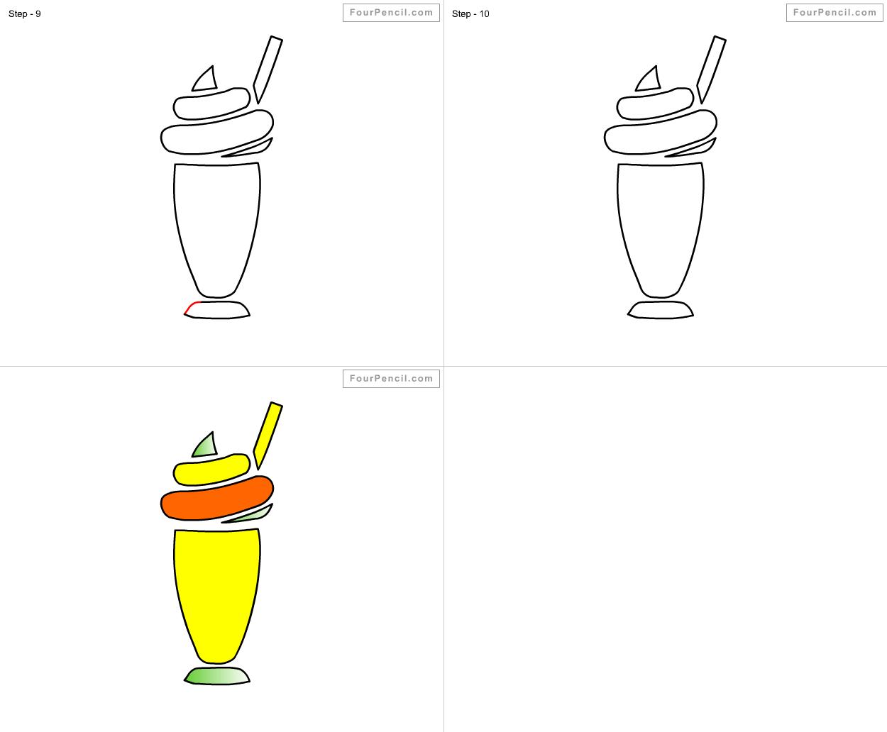 how to draw milk step by step