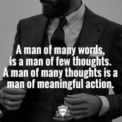 Gentleman Mafia Instagram A Man Of Few Words Quote