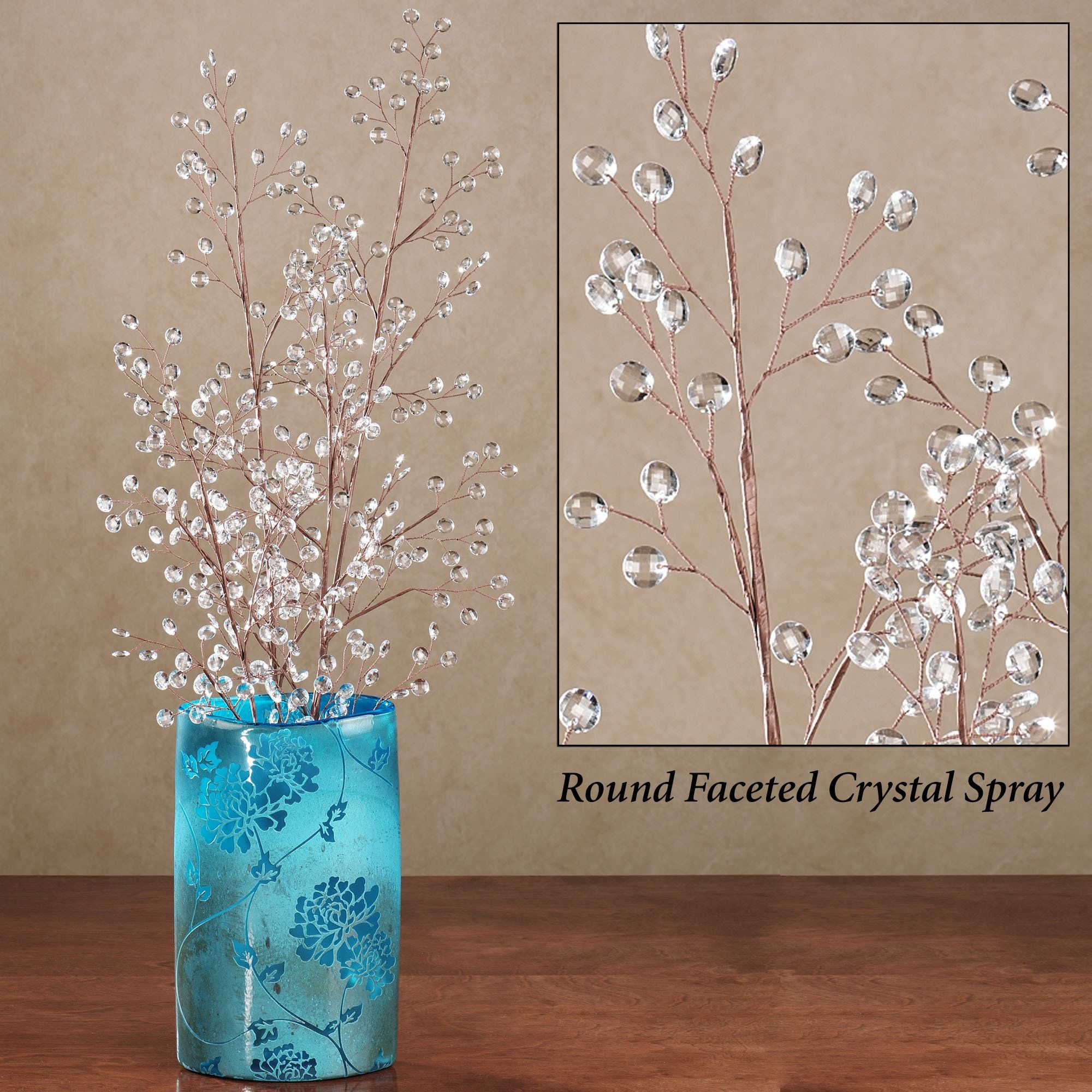 For a dynamic floral display complete your bouquet with the round for a dynamic floral display complete your bouquet with the round faceted crystal decorative spray accent has one stem with several offshoots and round reviewsmspy