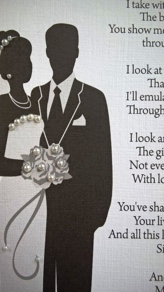 Handmade Personalised A5 Wedding Thank You Card For Parents/ Mum/ Dad From Son etc #mumsetc