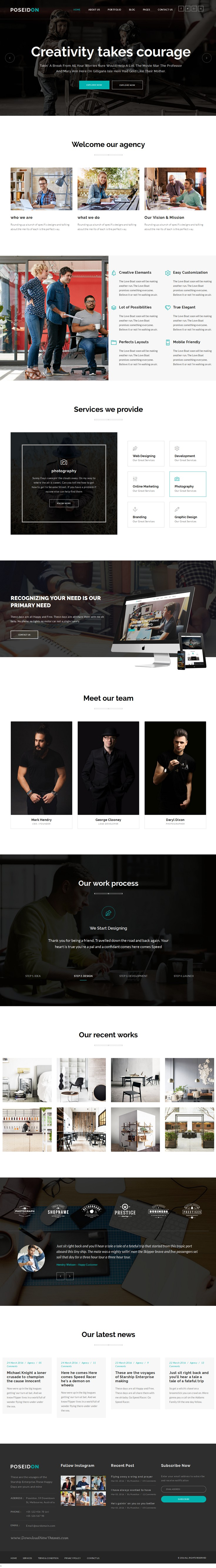 Poseidon is Multipurpose Responsive #Bootstrap HTML5 #Template for Business, #Corporate, Portfolio, Agency, Personal, Blog, Agency website. It has 25+ HTML pages, 3 homepage layouts and stunning features.