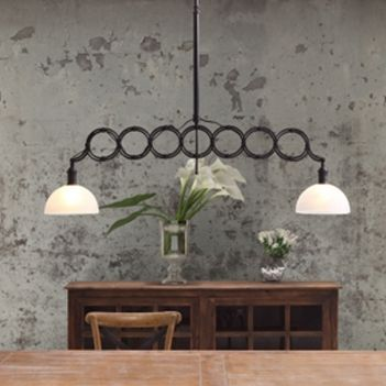 Jasper Ceiling Lamp..What a great way to have lighting for a long dining room table! Instead of having to hang two lamps you only have to hang ONE!!  #homedecor #lighting