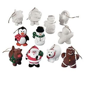 Set of 12 diy blank ceramic christmas ornaments blank diy do it set of 12 diy blank ceramic christmas ornaments solutioingenieria Image collections