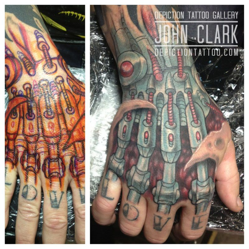 Artist john clark artist at depiction tattoo gallery in