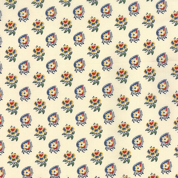 A La Carte Fabric Leaves and Hearts in White from by TheFabricHive