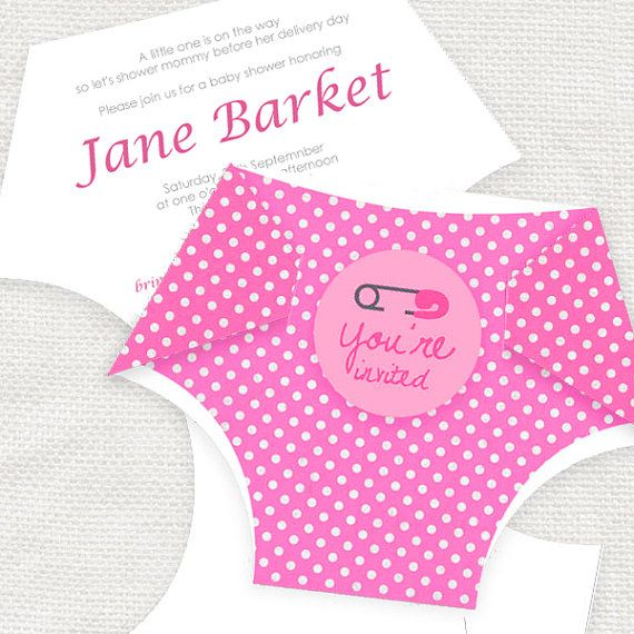 diy diaper printable baby shower invitation template by iDIYjr - baby shower invitation templates