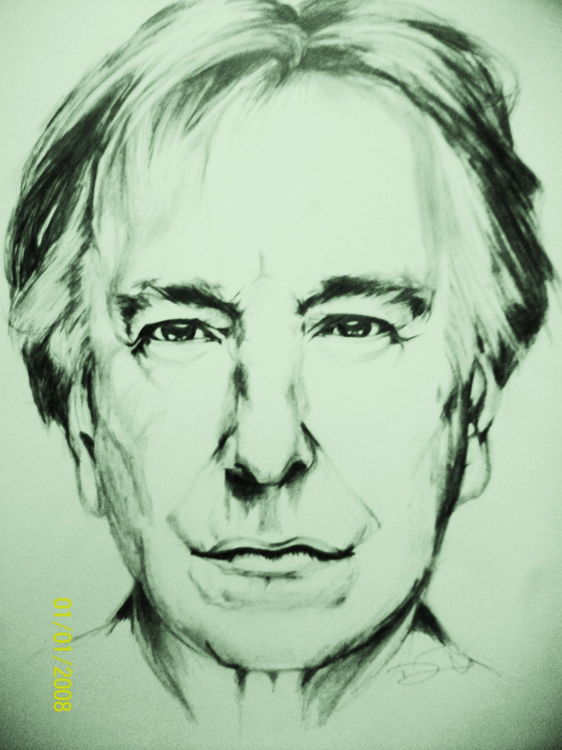 Awesome drawing of Alan Rickman | Art | Pinterest | Awesome ...