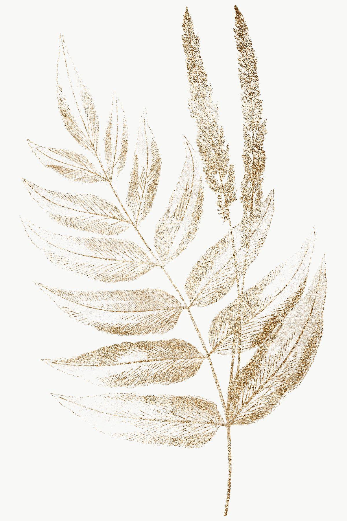 Golden Fern Leaves Design Element Free Image By Rawpixel Com Adj In 2020 Design Element Leaf Design Instagram Design