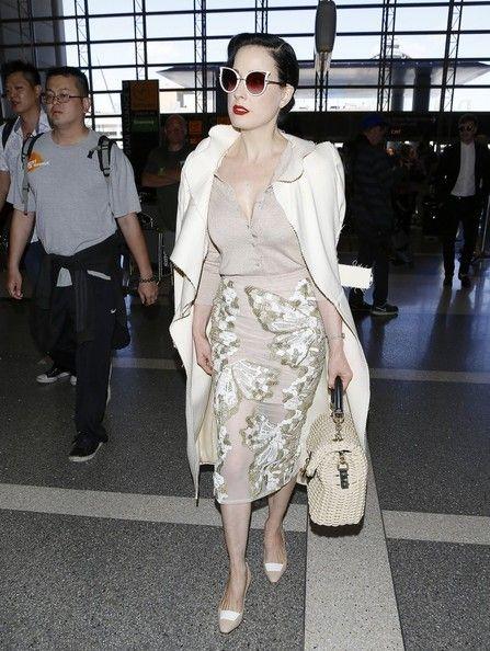 Dita Von Teese Photos: Dita Von Teese Arrives at LAX