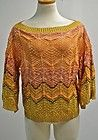 Oscar de La Renta Linen Silk Snap Front Chunky Cardigan Sz L $2090 Retail | eBay