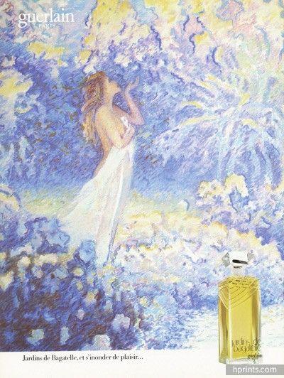 Guerlain 1984 Jardins De Bagatelle Perfume Perfume Bottles Painting