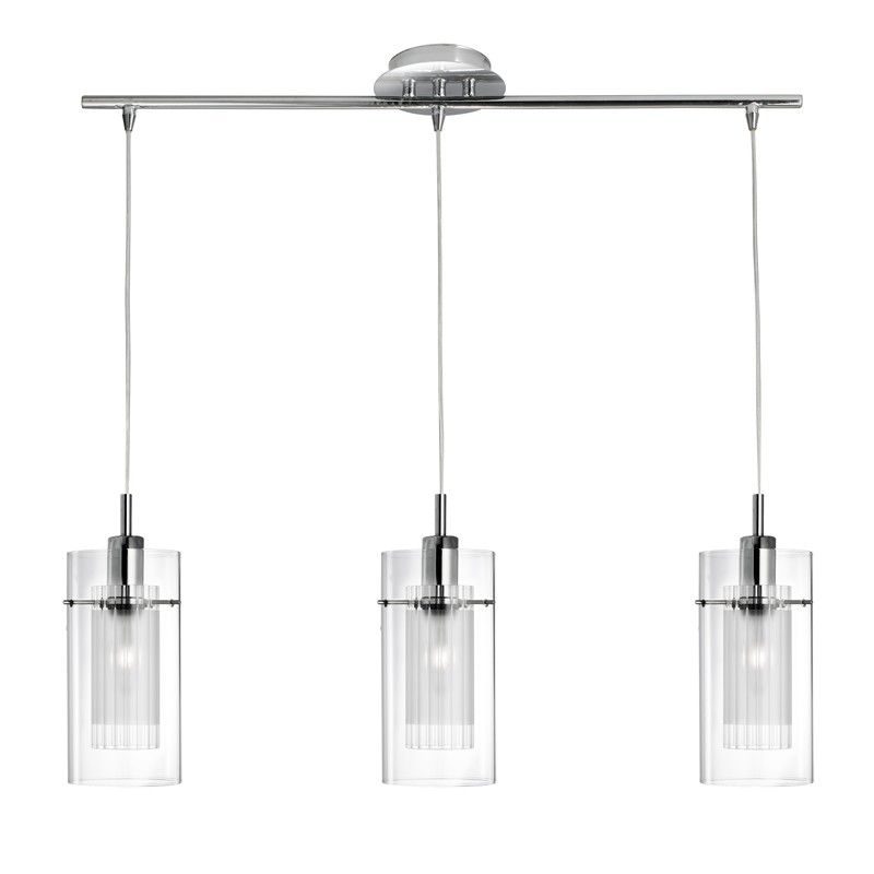 Searchlight Duo 1 3 Light Bar Ceiling Pendant