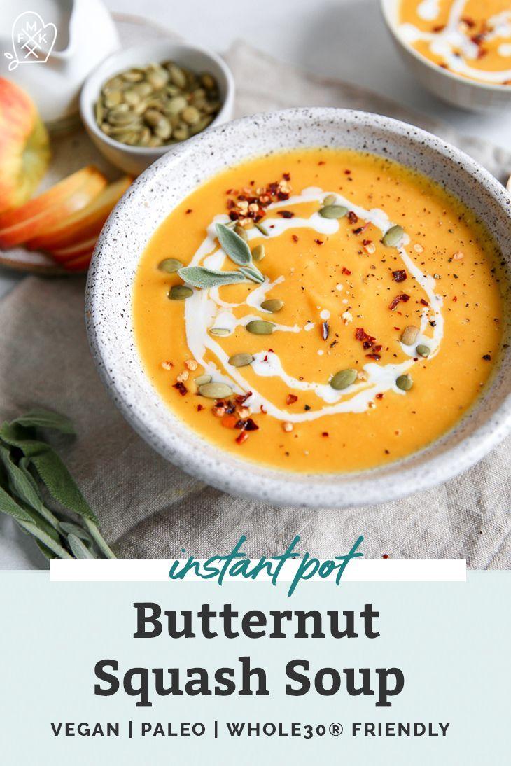 Easy Butternut Squash Soup {Instant Pot & Stovetop} • Fit Mitten Kitchen