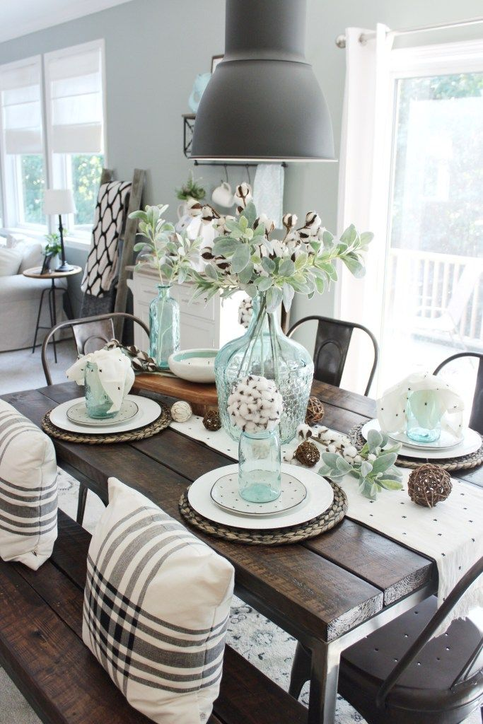 Ashley S Nest Decorating A Dining Room: Industrial Farmhouse Dining Table