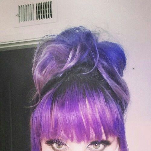 Cool purple bun