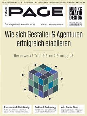 PAGE 12.2013 – Erfolgsstrategien für Gestalter &  Agenturen