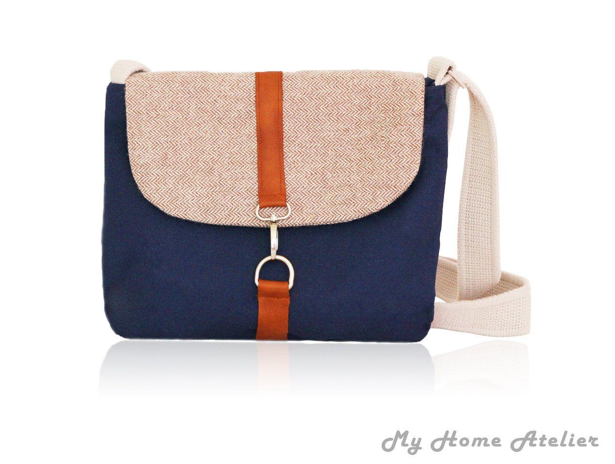 Messenger bag, Crossbody bag , shoulder bag , Summer shoulder bag,diaper bag,tote bag,fabric OOAK bag by MyHomeAtelier on Etsy