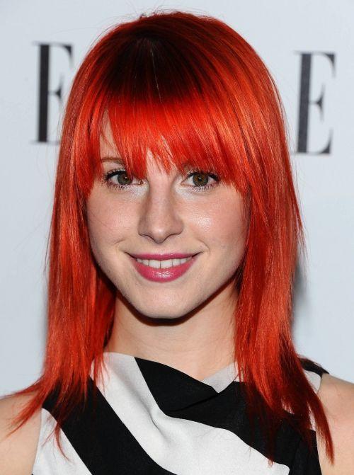 Hayley Williams Red Orange Hair Haley Williams Hair Celebrity Hair Colors Hayley Williams