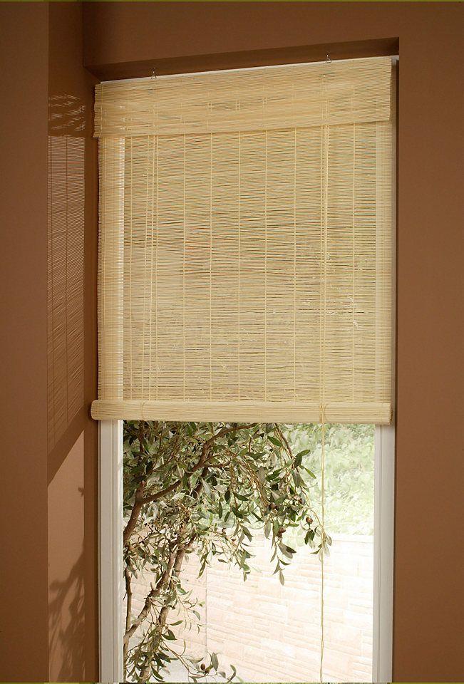Seitenzugrollo Bambus Liedeco Lichtschutz Bambusrollo