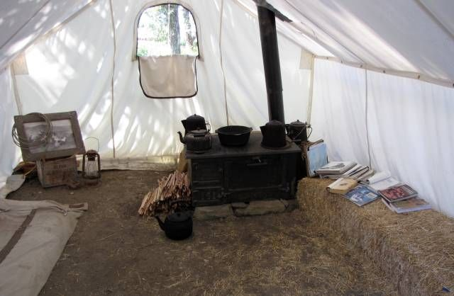 cowboy canvas tent | The interior appointment of a heated wall tent used for round & cowboy canvas tent | The interior appointment of a heated wall tent ...