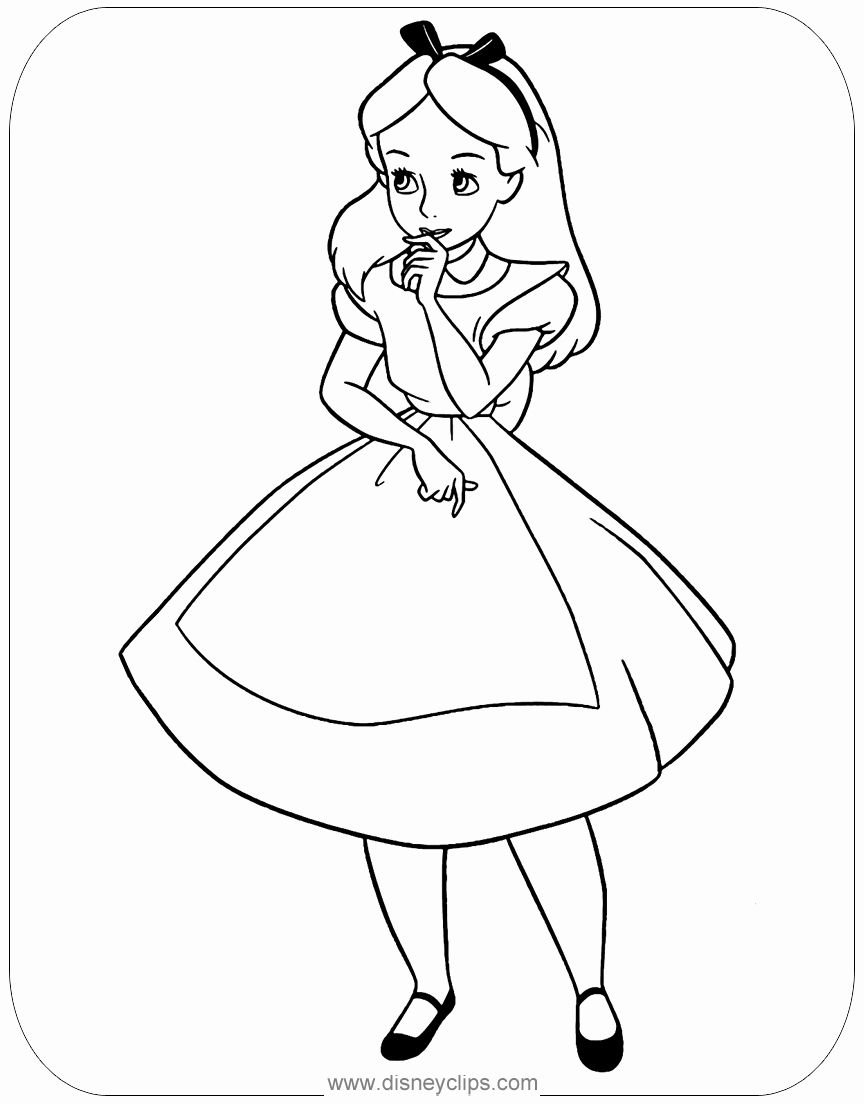 Alice In Wonderland Coloring Book Luxury Alice In Wonderland Col Alice In Wonderland Coloring Pages Alice In Wonderland Pictures Disney Princess Coloring Pages