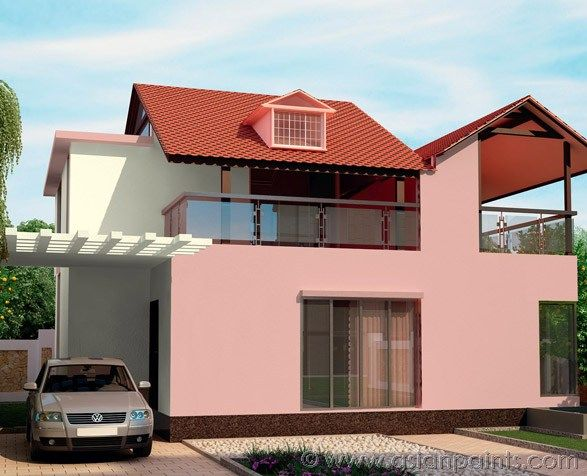 How To Enhance Your Exterior With Tints Of Red Wall Paint Designs Exterior Paint Design Ideas House Colors