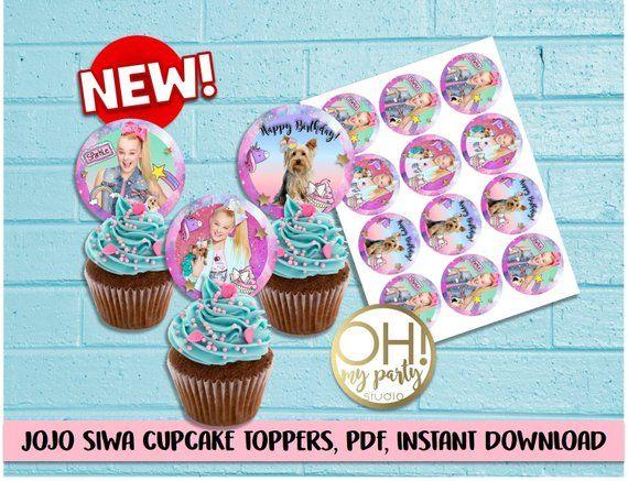 JOJO SIWA Jojo Siwa Party Birthday Cupcake Toppers Supplies