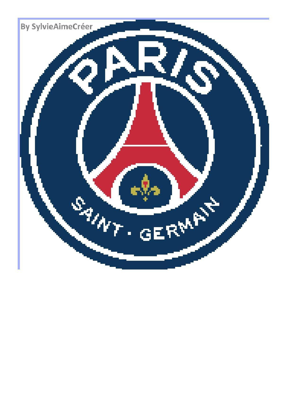 Grille Point De Croix Cross Stitch Pattern Psg Football De La Boutique Sylvieaimecreer Sur Etsy In 2020 Psg Chicago Cubs Logo European Football