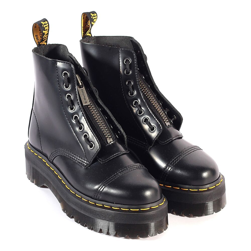 Dr martens sinclair smooth women's leather platform boots in