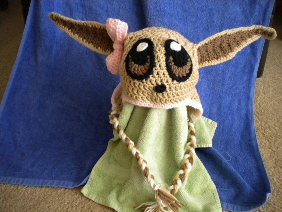 Items similar to crochet eevee hat on Etsy