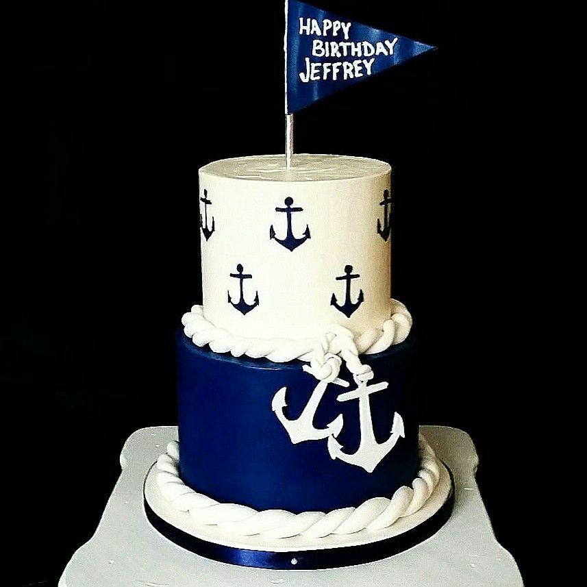 Cake Design Baby Shower Boy Nautical