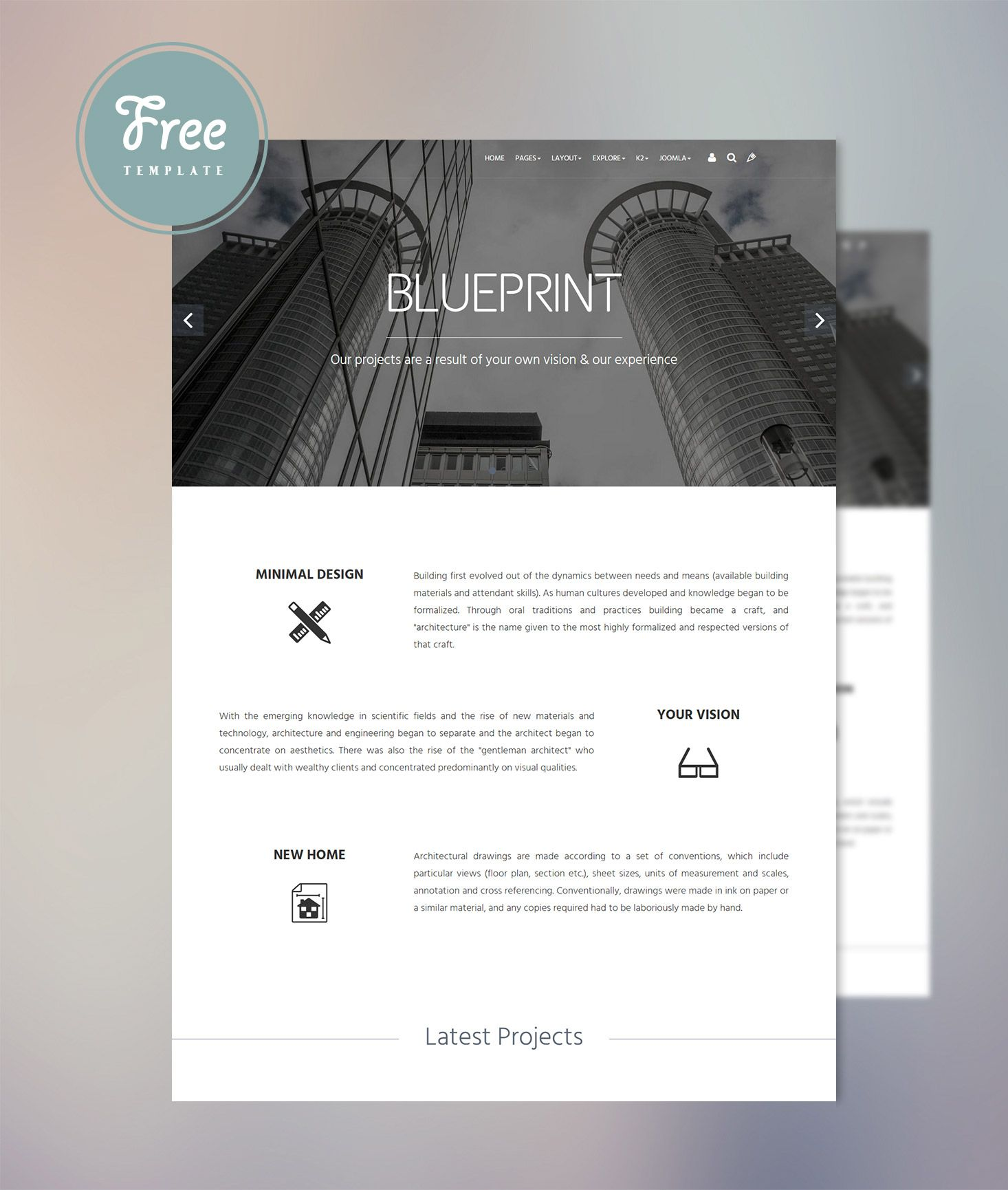 Blueprint is a clean modern and professionally designed responsive blueprint is a clean modern and professionally designed responsive joomla template suitable for business sites malvernweather Choice Image