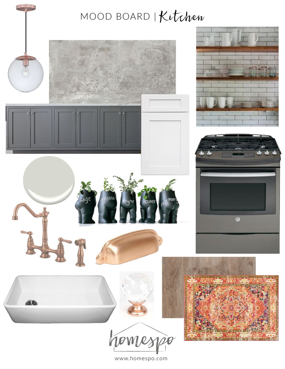 Best White Gray And Copper Kitchen Mood Board More Industrial 400 x 300