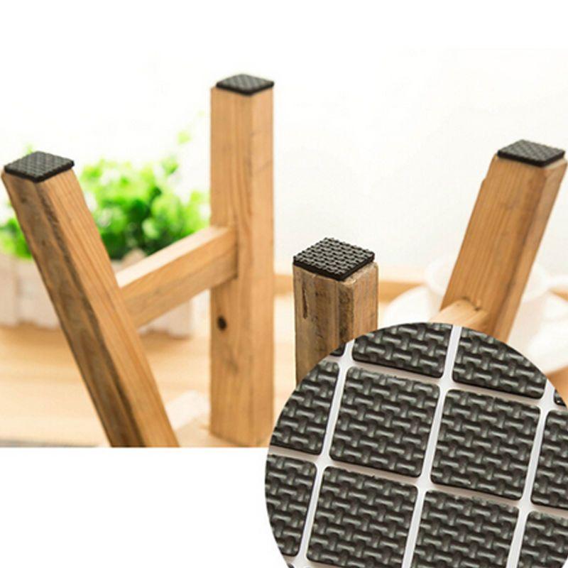 12 Pcs Meubles Jambes Pieds Collant Tapis Collant Pad Proteger Le Bois De Plancher De Zero Furniture Legs Dining Room Chair Cushions Wood Floors