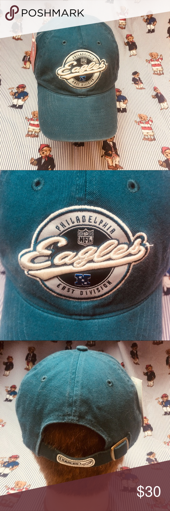 8be2ae6f1ba NWT Vintage Reebok Philadelphia Eagles Dad Hat New With Tags Philadelphia  Eagles Green Reebok Strapback Dad Hat. All logos are embroidered on this hat .