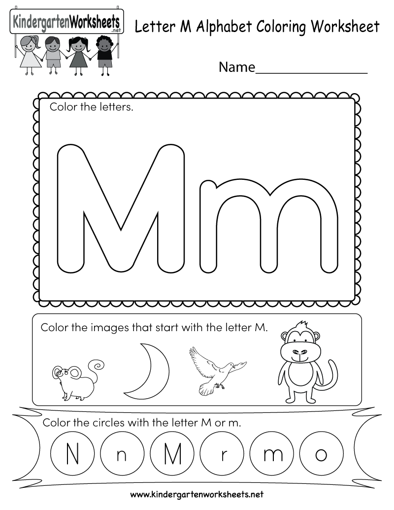 This Is A Fun Letter M Coloring Worksheet Children Can Color The Letters And The Images That Letter M Worksheets Kindergarten Letters Kindergarten Worksheets [ 1035 x 800 Pixel ]