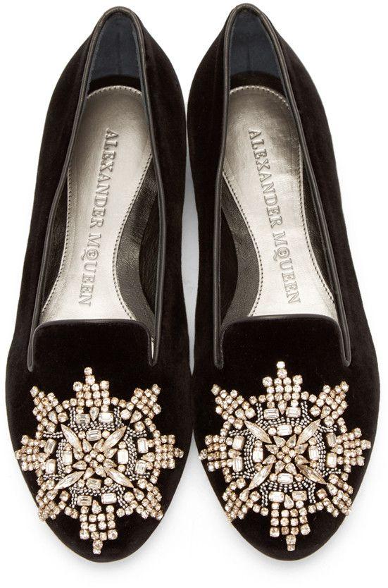 Velvet loafers, Alexander mcqueen shoes