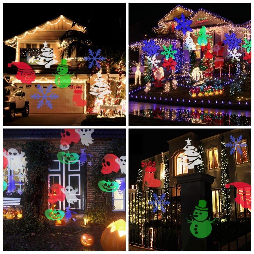 Christmas Light Projector Light Spotlight 12 Pics Dynamic Light