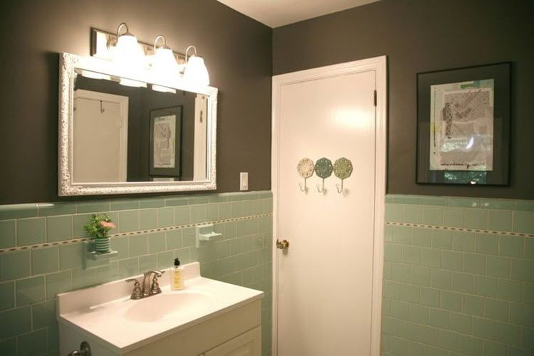 40 Mint Green Bathroom Tile Ideas And Pictures Green Tile Bathroom Green Bathroom Seafoam Green Bathroom