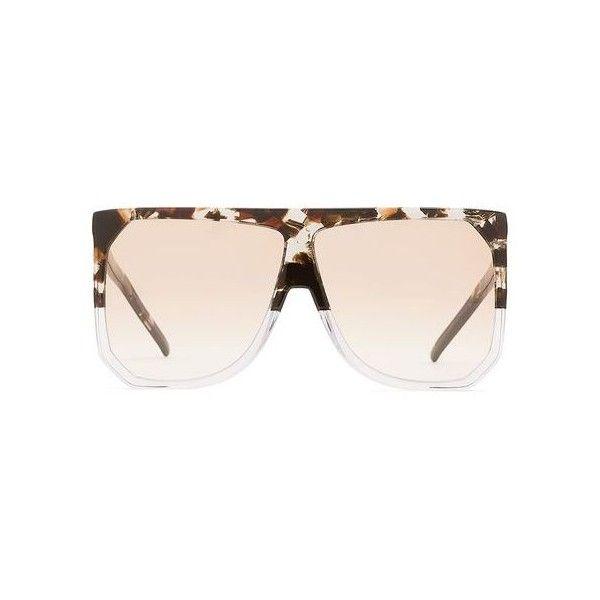 Loewe (2.600 DKK) via Polyvore featuring accessories, eyewear, sunglasses, see through glasses, acetate sunglasses, loewe, loewe sunglasses and transparent glasses