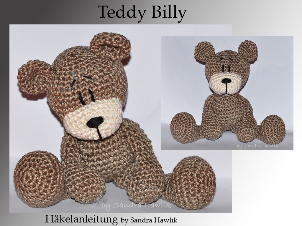 häkelanleitung, diy - teddy billy - ebook, pdf, deutsch oder